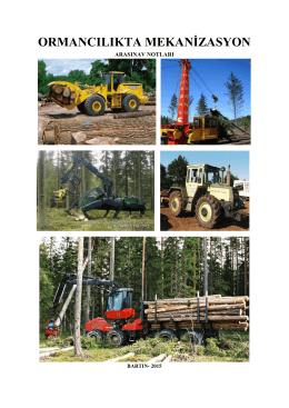 ormancılıkta mekanizasyon