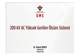 SUNU-08-200 kV AC YG Ölçüm Sistemi_Merev