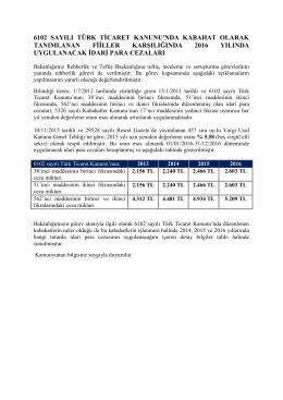 6102 sayılı türk ticaret kanunu`nda kabahat olarak tanımlanan fiiller