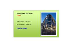Radisson Blu Şişli Hotel 5 Star Click for details