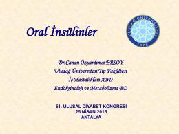 Oral insülin - Türk Diabet Cemiyeti