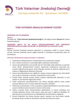 Tüzük - Türk Veteriner Jinekoloji Derneği