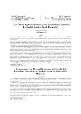 UD11-2013- oöe fiziksel çevre standart