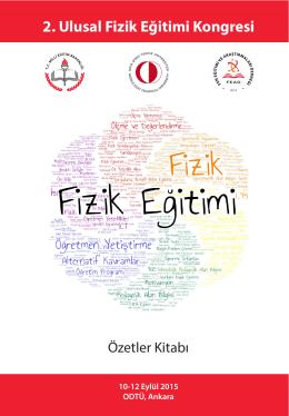 UFEK2015 - II. Ulusal Fizik Eğitimi Kongresi