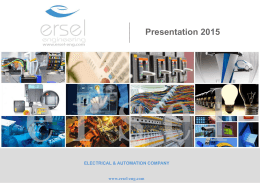 electrıcal & automatıon company - Ersel Engineering`e Ho  geldiniz