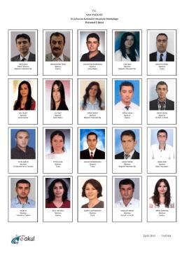okul personel listesi - ERCİŞ