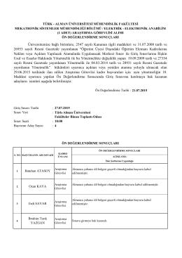 Mühendislik Fakültesi - Türk