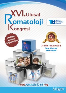 Bilimsel Program - 16. Ulusal Romatoloji Kongresi