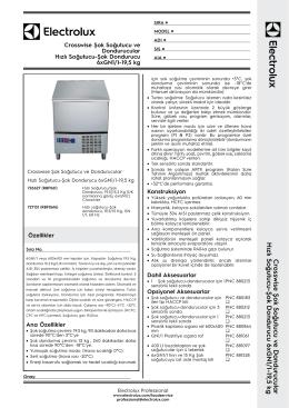 Hızlı Soğutucu-Şok Dondurucu 6xGN1/1-19,5 kg