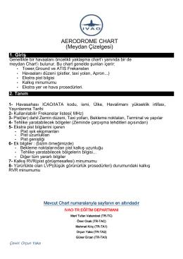 AERODROME CHART (Meydan Çizelgesi)