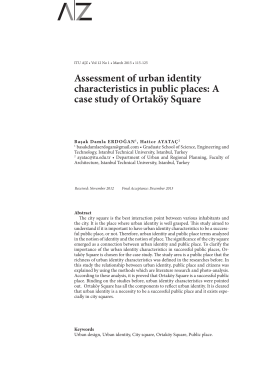 Assessment of urban identity characteristics in public places: A case