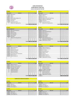 bölüm ders listesi - Gedik Üniversitesi