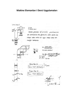 Makine Elemanları I Dersi Uygulamaları