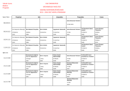 Güz Makina YL ve DOK Ders Programı