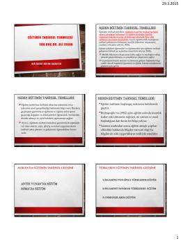 PowerPoint Sunusu - Ereğli Eğitim Fakültesi