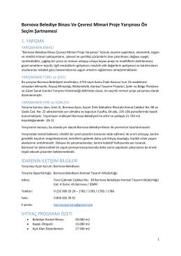 Bornova Belediye Binası Ve Çevresi Mimari Proje