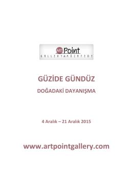 GÜZİDE GÜNDÜZ www.artpointgallery.com