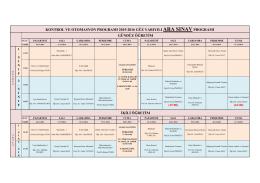AraSınav(Vizeler)Programı_2015