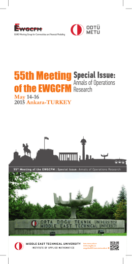 Conference Brochure - 55th Meeting of the EWGCFM (EWGCFM