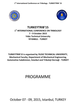 Final Technical Program Turkeytrib`15