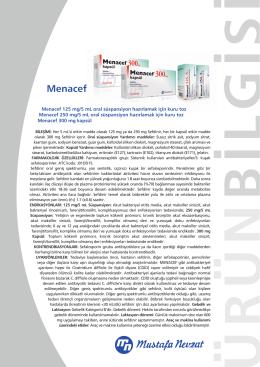 Menacef - Mustafa Nevzat İlaç Sanayi
