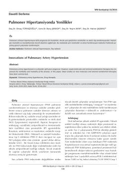 Pulmoner Hipertansiyonda Yenilikler_Kardiyoloji