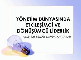 prof. dr. nigar demircan çakar`ın sunumu