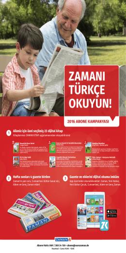 2016 Zaman Kampanya Afişi