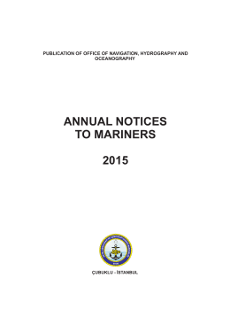 annual notıces to marıners 2015 - Seyir Hidrografi ve Oşinografi
