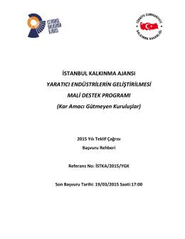 istka/2015/ygk - İstanbul Kalkınma Ajansı