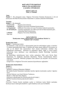 boğaziçi üniversitesi kiralama komisyonu çalışma yönergesi