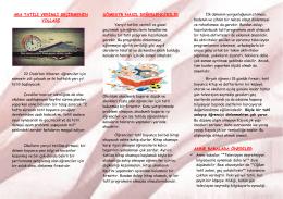 TATİL DEĞİL YARIYIL FIRSATI (Ocak Ayı Broşürü)