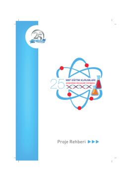 Proje Rehberi - mef eğitim kurumları araştırma projeleri yarışması