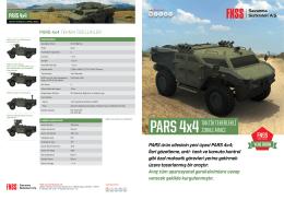 PARS 4x4 TakTik Tekerlekli Zırhlı araCı
