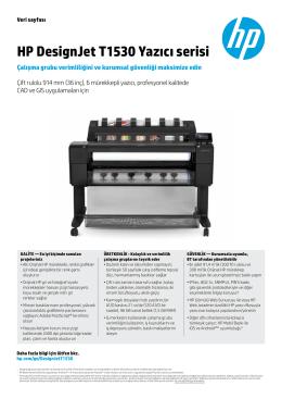 HP DesignJet T1530 Yazıcı serisi