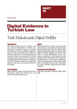 Türk Hukukunda Dijital Deliller