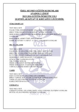 özel seymen eğitim kurumları anadolu lisesi 2015