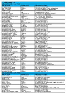 istanbul 17 ekim burs mülâkat listesi