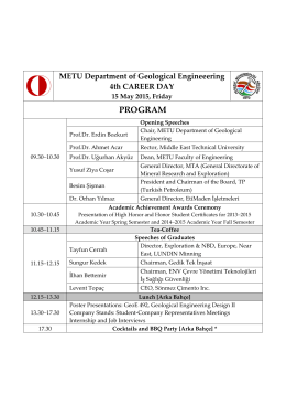 PROGRAM - METU - Middle East Technical University