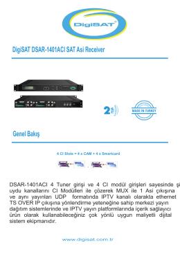 DigiSAT DSAR-1401ACI SAT Asi Receiver Genel Bakış