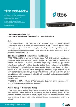 TTEC PSG24-4CRW - Ttec Güvenlik Kameraları