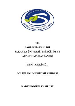 Septik Servisi - Sakarya Eğitim ve Araştırma Hastanesi