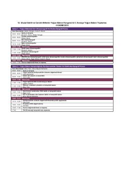 12. Ulusal Dahili ve Cerrahi Bilimler Yoğun Bakım Kongresi & 4