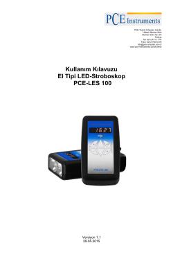 Kullanım Kılavuzu El Tipi LED-Stroboskop PCE