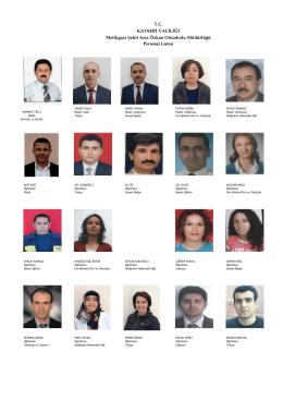 T.C. KAYSERİ VALİLİĞİ Melikgazi Şehit Aziz Özkan Ortaokulu