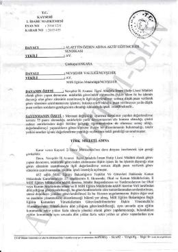 Esastan iptal kararı 2015/455 için tıklayınız