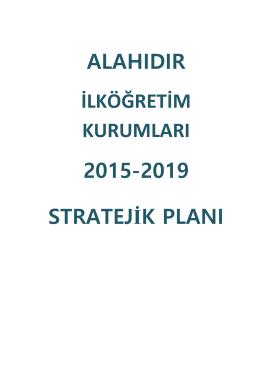 Okul Stratejik Planı - Alahıdır İlkokulu