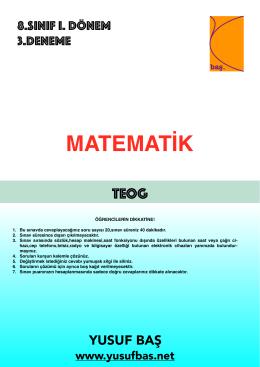 8.Sınıf deneme 3 (mac)