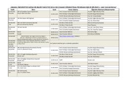 Ebelik Bölümü 2014-2015 Bahar Dönemi Final Sınav Programı