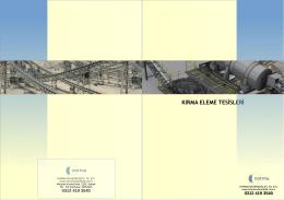KIRMA ELEME TESİSLERİ - Norma Mühendislik Web Sayfası